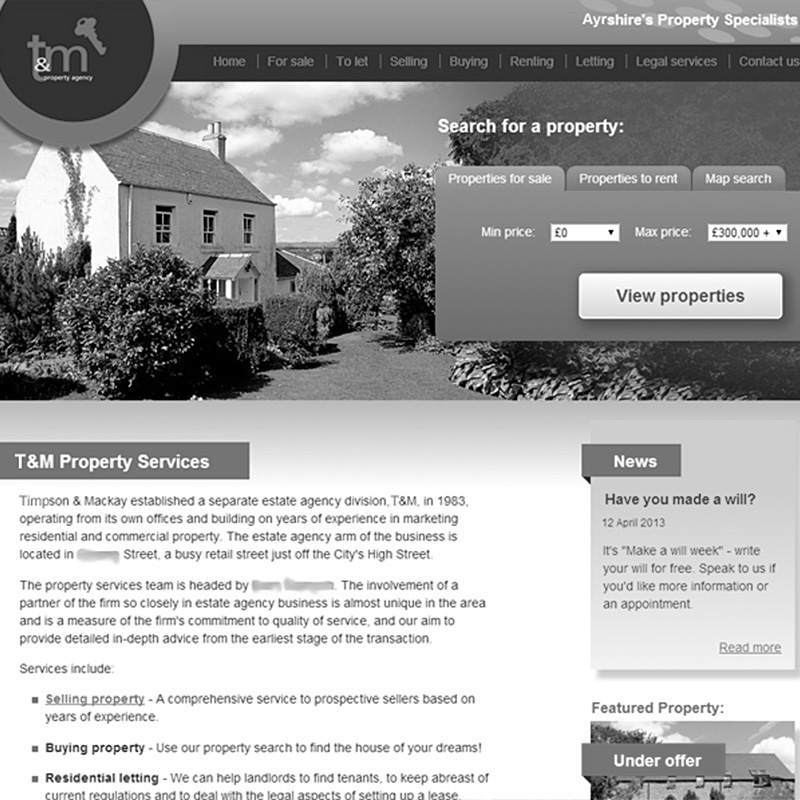 Estate Agent website redesign